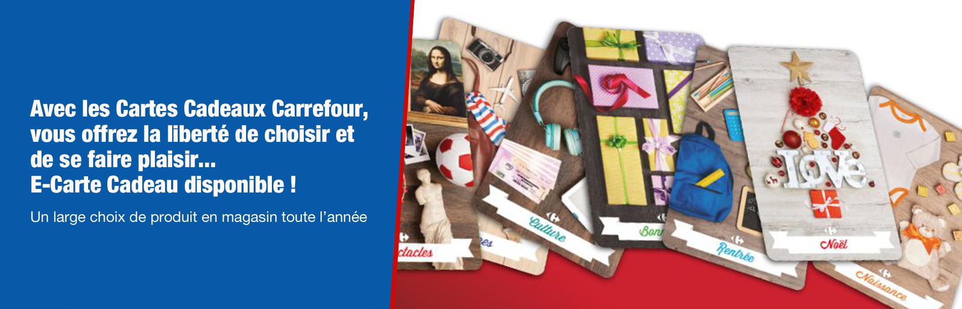 Carte Hypermarche Carrefour.Carte Cadeaux Carrefour Carrefour Pro